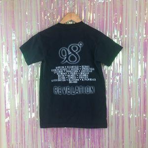 06104fd1b9c Vintage Tops - VTG 98 Degrees Revelation 2001 Tour Concert shirt